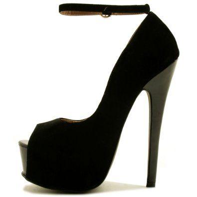Amazon.com: Spy Love Buy Lola Stiletto Heel Peep Toe Ankle Strap Concealed Platform Pumps: Shoes