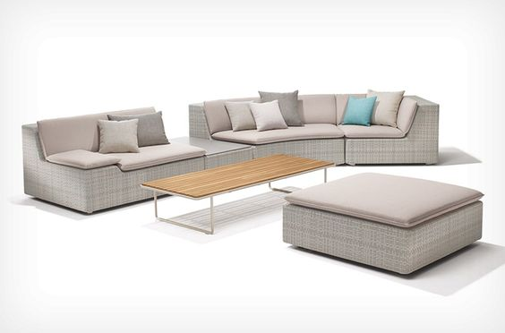 outdoor lounge furniture grid | gloster furniture | outdoor ... - Modulares Outdoor Sofa Island