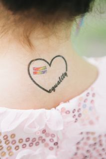 Marriage equality temporary tattoos for guests!  SO CUTE - I need to share this w some of my friends!