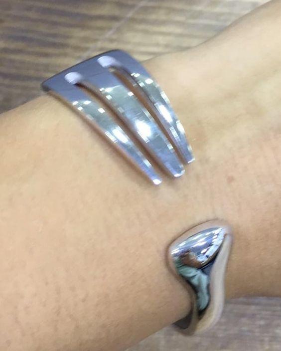 Cuoco Argentina Forchetta Braccialefashion In 2020 Cuff Bracelets Silver Bracelet Le Fashion