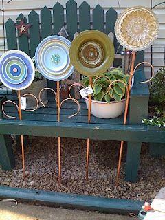 Quartet of garden plate flowers