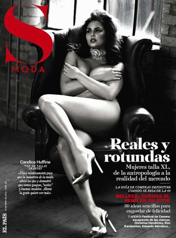 Retro Full-Figured Editorials - The S Moda May 19 2012 Photoshoot Stars a Sultry Candice Huffine (GALLERY)