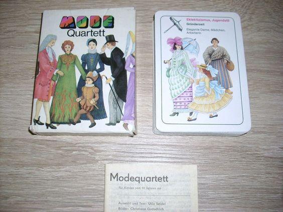 MODE Quartett unbenutzt Karten Altenburg Spielkarten OVP DDR ab 1 EURO