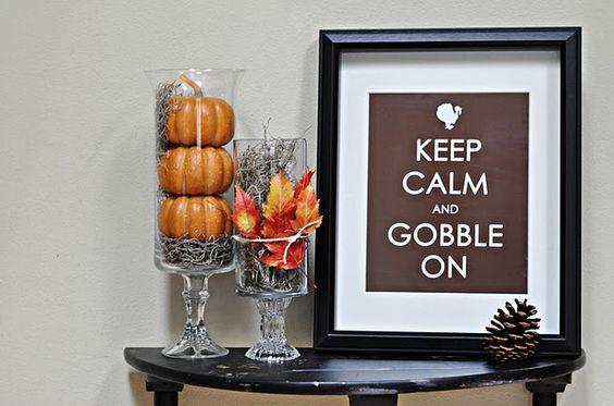 keep calm and gobble on! cute cute!