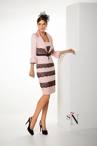 A very flattering wedding guest dress and jacket design by Sonia