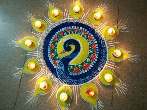 Simple Diwali Rangoli Designs                                                                                                                                                      More: