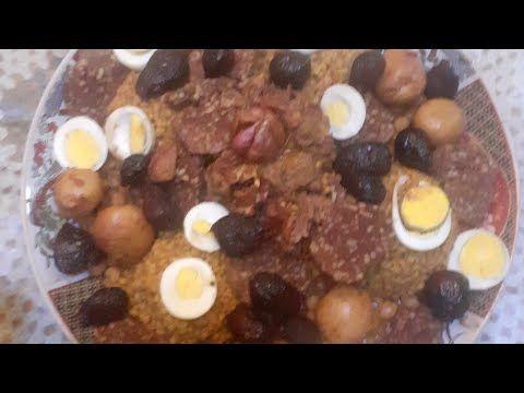 ألذ وأعرق طبق من المطبخ اليهودي المغربي الأسفي السخينة Recette De Cusine Juif Marocain Youtube Food Breakfast Eggs