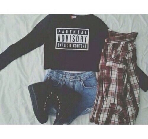 Image via We Heart It #blacktop #clothes #content #cute #fade #fashion #H&M #hipster #jeanshorts #outfit #pale #pretty #sweater #sweatshirt #pull&bear #softgrunge #plaidredbuttonedshirt #blackhightopshoes