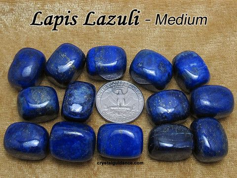 Lapis Lazuli (medium Grade AA) tumbled stone for crystal healing