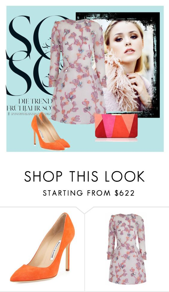 """""""So Chic"""" by daziel ❤ liked on Polyvore featuring Manolo Blahnik, The 2nd Skin Co. and L.K.Bennett"""