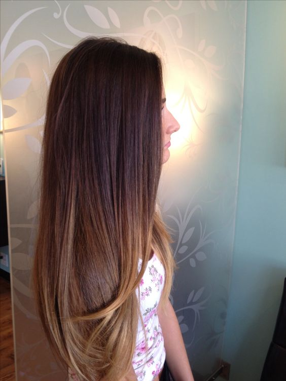 Long dark ombre and carmel hair. Free shipping human hair extensions,if you like