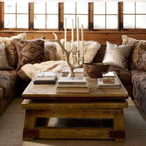 Ambiance chalet la d co a du charme chalets salons et rustique - Deco ambiance chalet ...