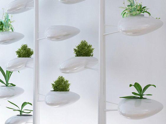 Self-Watering Indoor Hydroponic Vertical Garden System Doubles as Screen | Urban Gardens - via http://www.urbangardensweb.com/2012/05/16/indoor-hydroponic-vertical-garden-screen/
