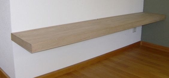 Een wandplank voor zware belasting heeft een minimale dikte van 5 cm de lengte en diepte kunt u - Planklengte van het kind ...