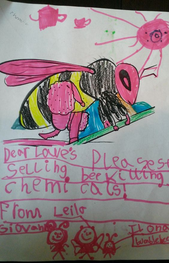 Leila, Girl Scout and pollinator champion, sent this card to Lowe's to ask them to stop selling bee-killing pesticides and plants treated with the chemicals.