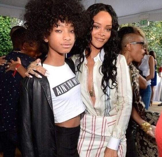 Rihanna and Willow Smith