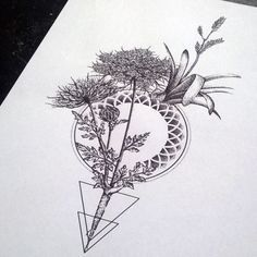 geometric flower tattoo - Google Search
