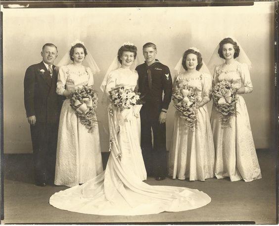 Maternal Grandparents wedding.