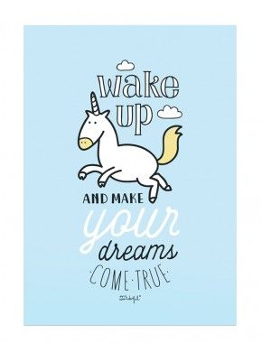 Affiche wake up make your dream come true mr wonderful for Mr wonderful wallpaper