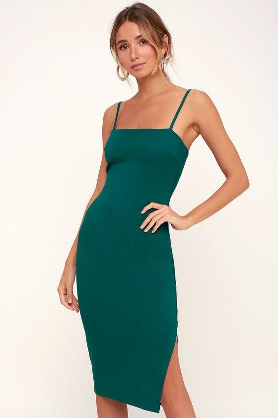 Paulina Forest Green Bodycon Midi Dress Midi Dress Bodycon Green Bodycon Midi Dress Lace Bodycon Midi Dress