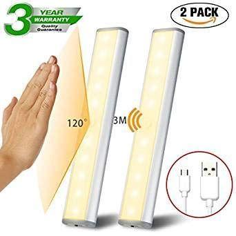 3pc Led Bewegungsmelder Schrankleuchten Kleiderschrank Lampen Unterbauleiste Beleuchtung Kuchenlampen Schrankbeleuchtung Kabinett Nachtlicht Packing Tableware