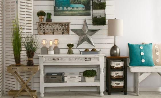 Inspiring rustic vignette with tons of great items. Click to shop the look and find more farmhouse finds.