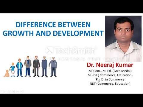 63 Difference Between Growth And Development Youtube Development Growth Education