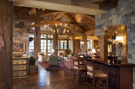 Awesome!: Dream Vacation, Living Rooms, Dream Homes, Dream House, Family Rooms, Kitchen With Hearth Room