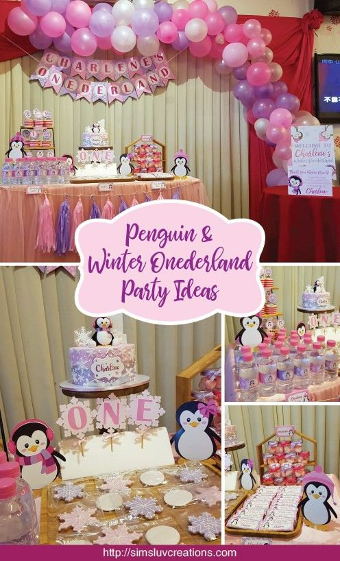 Penguin Party 2nd Birthday Party For Girl Penguin Birthday Party Onederland Birthday Party