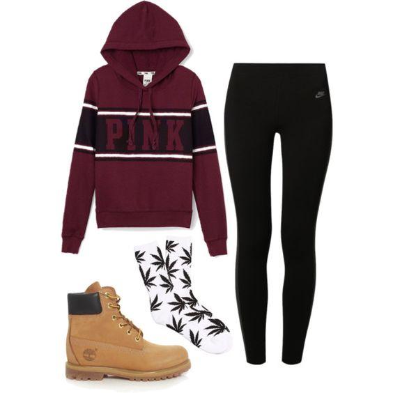 Pink hoodies Nike leggings and Victoria secret pink on Pinterest
