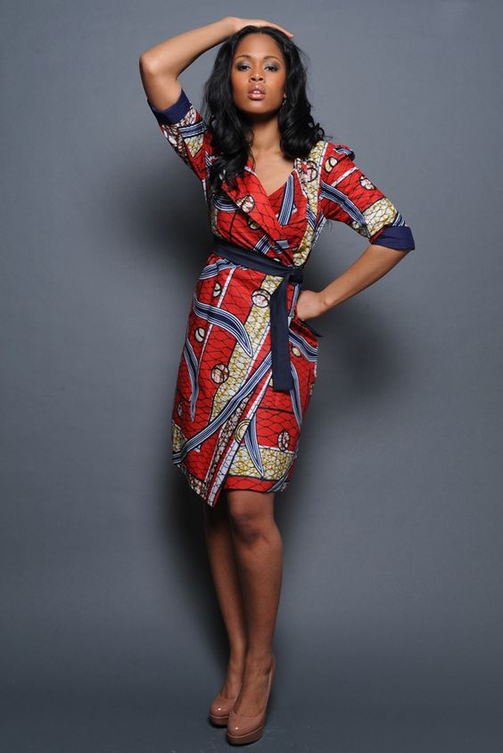 Pretty vlisco coat dress latest african fashion african prints