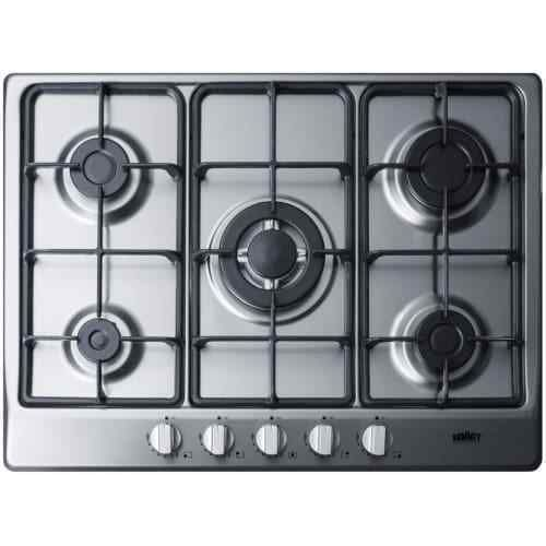 Summit Gc527 27 Inch Wide Built In Gas Cooktop With Sealed Sabaf Burners And Dua Gas Cooktop Cooktop Cooktop Gas
