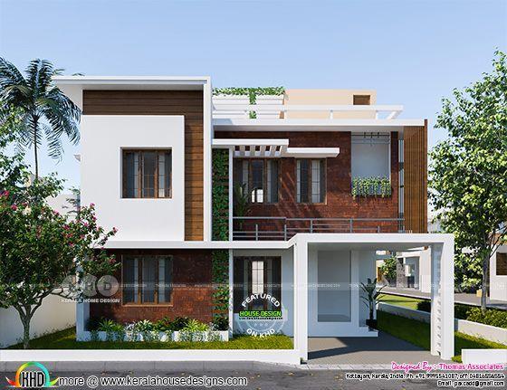34 Lakhs Cost Estimated Contemporary Home Kerala House Design Small House Design Architecture Duplex House Design