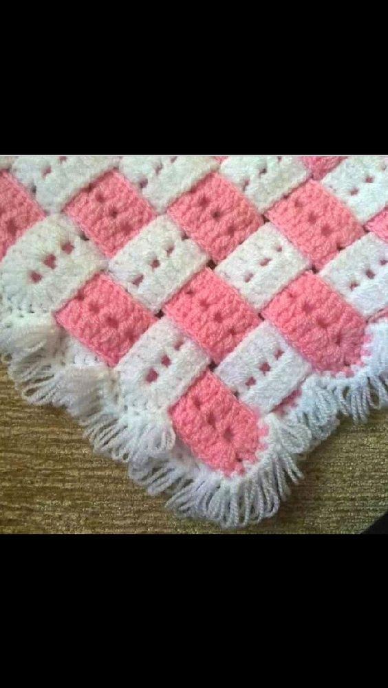 Ideia Xxi Viseu ~ Ideia para manta de croch u00ea Crochetando com Thiza Pinterest u00danico, Estampas e Inspiraç u00e3o