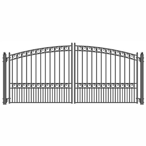 Buy Steel Dual Swing Driveway Gate Paris Style 12 X 6 Ft Aleko In 2020 Iron Gates Iron Gate Design Wrought Iron Gate Designs