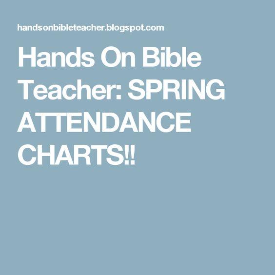Hands On Bible Teacher SPRING ATTENDANCE CHARTS!! Sabbath - printable attendance sheet
