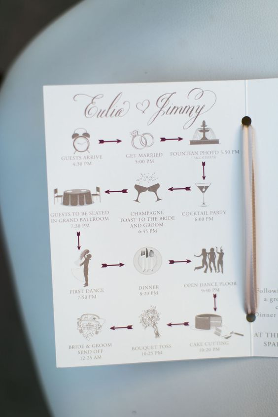 Wedding programs come in all colors, shapes and sizes. These 15 unique wedding program ideas are perfect for all ceremonies!
