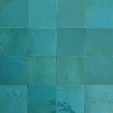Zellige 10x10 pour les murs de la douche couleur 1015 for Miroir zellige