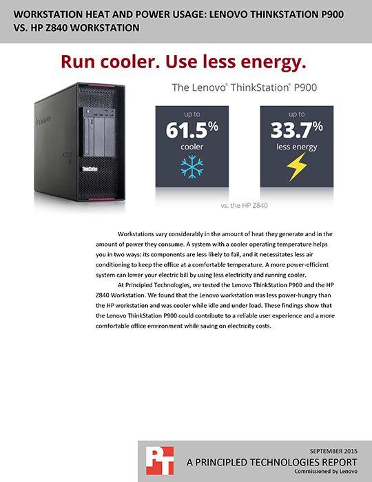 Workstation heat and power usage: Lenovo ThinkStation P700 vs ...