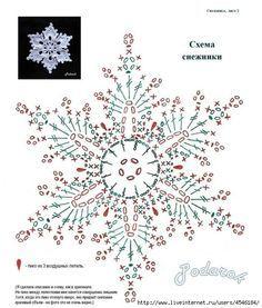 crochet flower/flake diagram