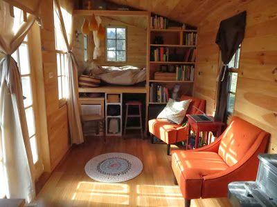 Rowans Tiny House Living Room And Sleeping Loft