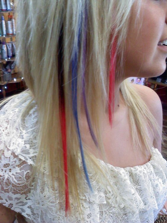 LOVE the colored extensions!