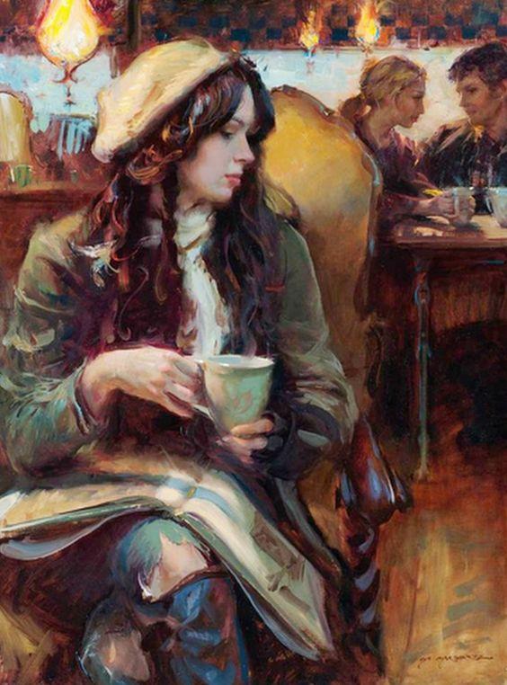 Pintura y Fotografía Artística : Cuadros de Damas Hermosas, Pinturas Al Óleo: