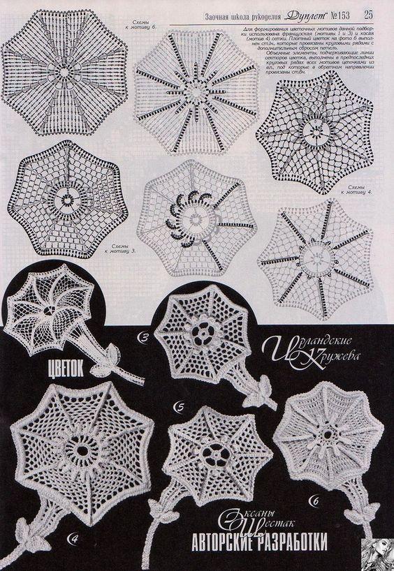 Lacy irish crochet motif 3 More