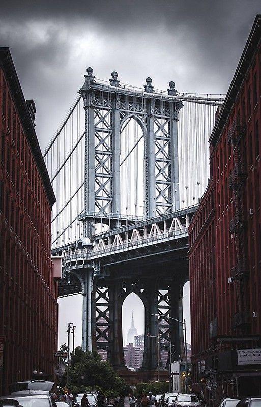Manhattan Bridge Iphone 12 Soft By Pictureeyes Bridge Wallpaper Nyc Background View Wallpaper