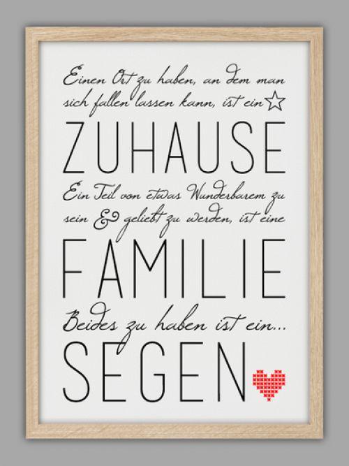 Schöner Spruch ''Familie und Zuhause''