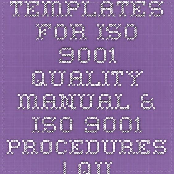 Quality manual templates are needed for your business More - manual templates
