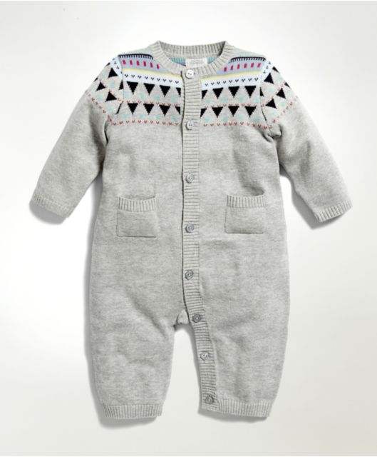 Love grey. Unisex Grey Knitted Romper