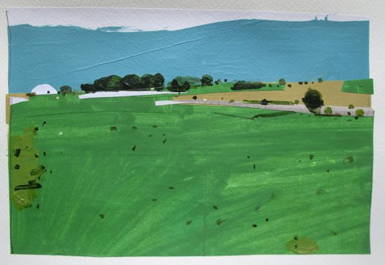 May Breeze Original Landscape Collage Painting on by Paintbox