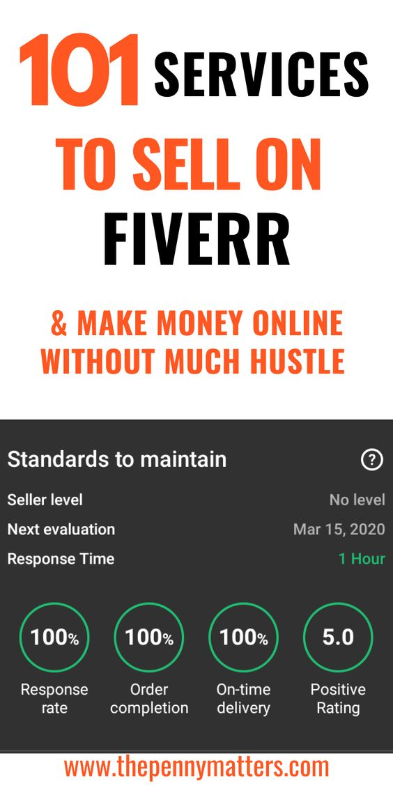 101 Services To Sell On Fiverr And Make Money Online How To Make Money Make Money Online Make Money Writing